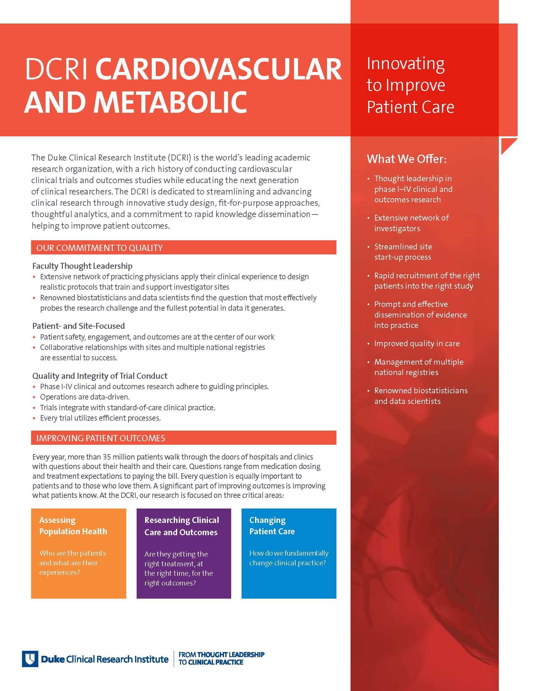 Cardiovascular and Metabolic